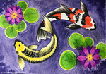 Watercolor Koi by algy
