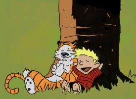 Mike Mignola Calvin and Hobbes by gzapata