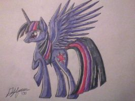 Alicorn Twilight by MusicBrushLoveland