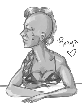 Sketch day - Ronya by Janttuman