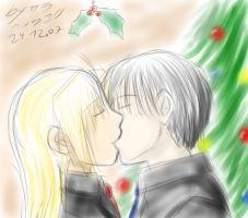 Dec 24th 07 - EdxRoy mistletoe by ChibiEdo