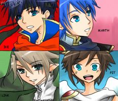 the 4 awesome fighters of SSBB by sho-hei