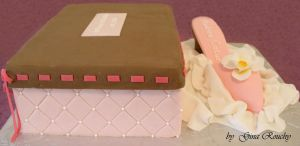 Shoe and box Cake by ginas-cakes