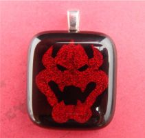 Bowser Fused Glass Pendant by FusedElegance