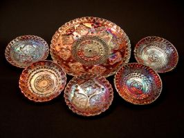 Plates by rhodespottery