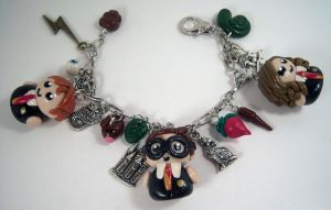 Harry Potter Charm Bracelet by sweet-geek