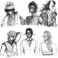 Male Characters by LittleSakis-Aubade