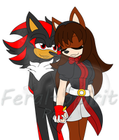 Mari and Shadow by Feral-Spirit