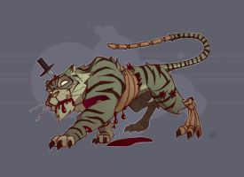 Zombie Zoo: Tiger Colors by Zatransis