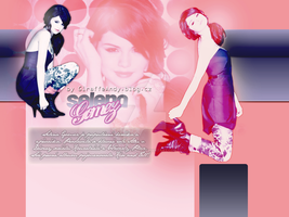 Selena Gomez Layout 1 by GiraffeAndy