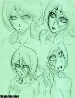 Rukia's expressions by Pamianime