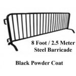 8 ft Barricade with Black Powder Coat