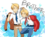 APH- Brothers -Art Trade- by YubiwaDono