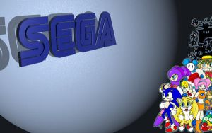 SEGA Wallpaper Colab with MZ by Phlar1245