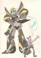 Bumblebee and Miko by HamhaPHKFan
