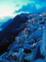 Fira in the evening by sanjab