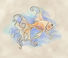 fanciful goldfish by Spwrinkle