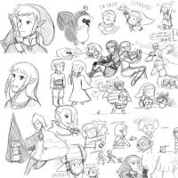 Skyward Sword Sketches by ev1lmunchk1n