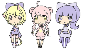 cute adopts- by Chibii-chii