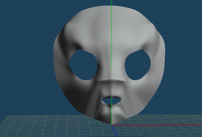 first attempt at modelling a face by Sushi-Kittie