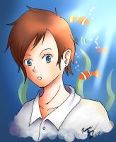 Boy With Fishies by GleeAtack