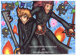 KH: Roxas and Axel. by Gamibrii