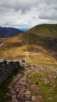 Mourne Wall From Sleive Donard by dhc72