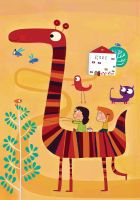 The striped giraffe by nicolas-gouny-art
