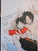 CE: Luffy and Ace ^^ by Vero-desu
