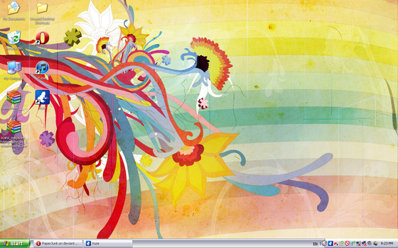 August '12 Desktop: Abstract by PaperJunk