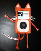 Orange Kitty Ipod Case by crymsonlyze