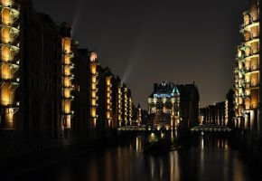 Speicherstadt Hamburg Night by Bull04