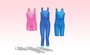 MMD Overall Pack 3 sizes -updated- by amiamy111