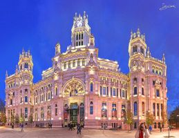 By night by worseevil on deviantart for Edificio de correos madrid