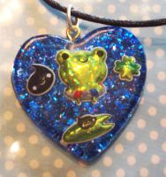 Froggy Friends Necklace by Daisy--Chains