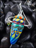 Galeru - Glass Bottle Pendant by andromeda