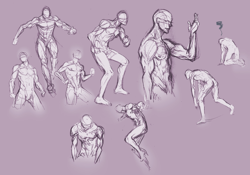 Anatomy and poses. by moni158