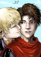 Wiccan and Hulkling by Autumn-Sacura