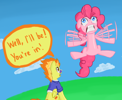 Pinkie Flies Again by RunbowDash