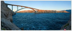 Bridge to island Pag by ivancoric