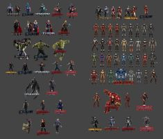 Evolution of The Avengers Uniforms by gunnar-santos