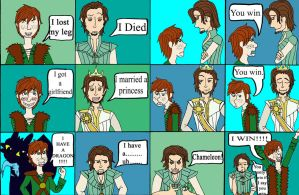 Hiccup vs Flynn Rider by f4113n-4ng31-0f-r4in