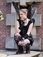 Gothic Fairy at Castlefest by ViviansPhotographs