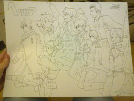 Hetalia Axis and Alies by PokeYourFace