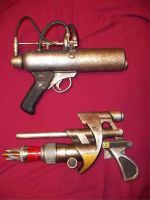 Dieselpunk Retro Ray Guns by Pirkleations