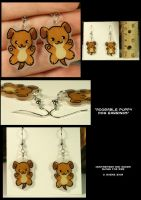 Puppy Earrings by CatharsisJB