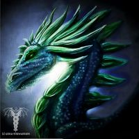 Night Dragon speedpaint by Fyrrea