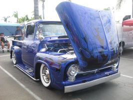 Blue and Black Flamming Ford F-100 by granturismomh