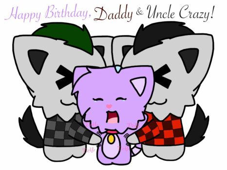 Birthday Giftt for BoonytheWolf and CrazyTheWolf by RaccoonTwin-3