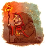 Old Mage Lady by petura